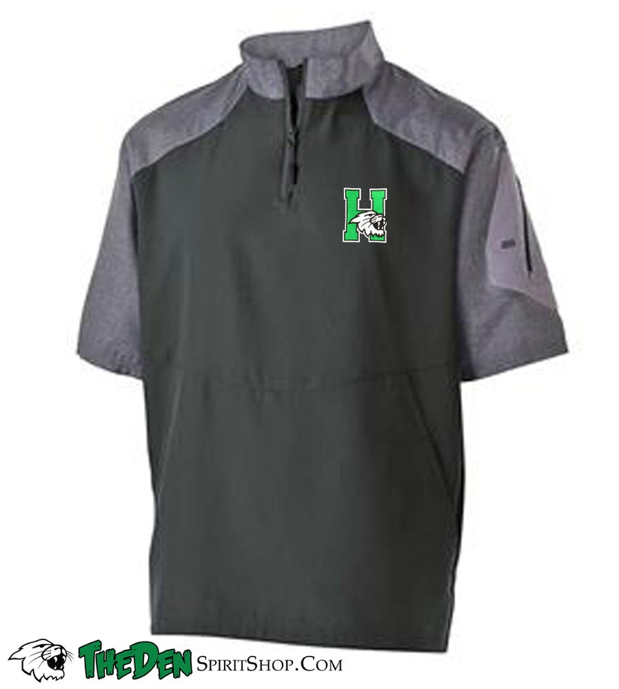 Image of Holloway Short Sleeve Sideline Jacket, Black/Grey