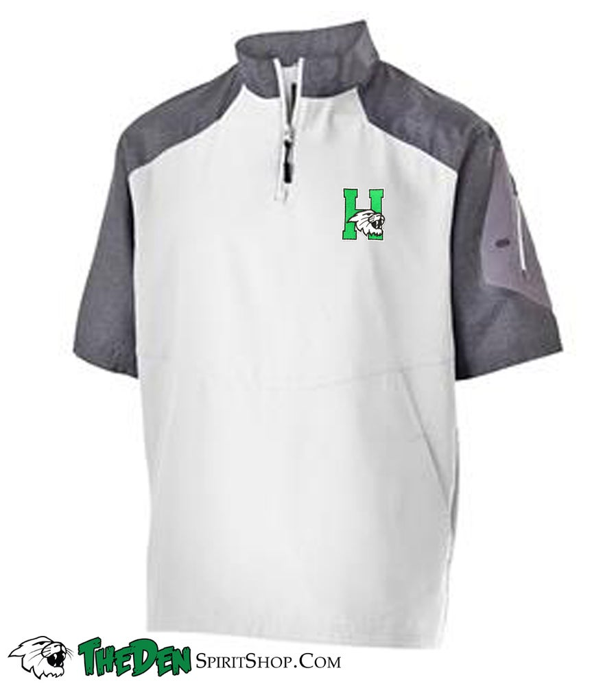 Image of Holloway Short Sleeve Sideline Jacket, White/Grey