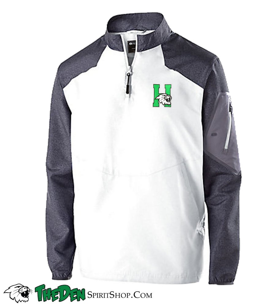 Image of Holloway Long Sleeve Sideline Jacket, White/Grey