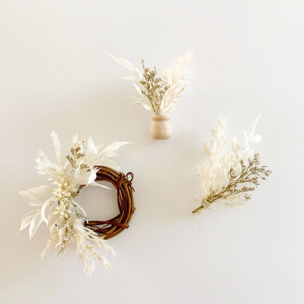 Image of Dried Floral Dollhouse Decor