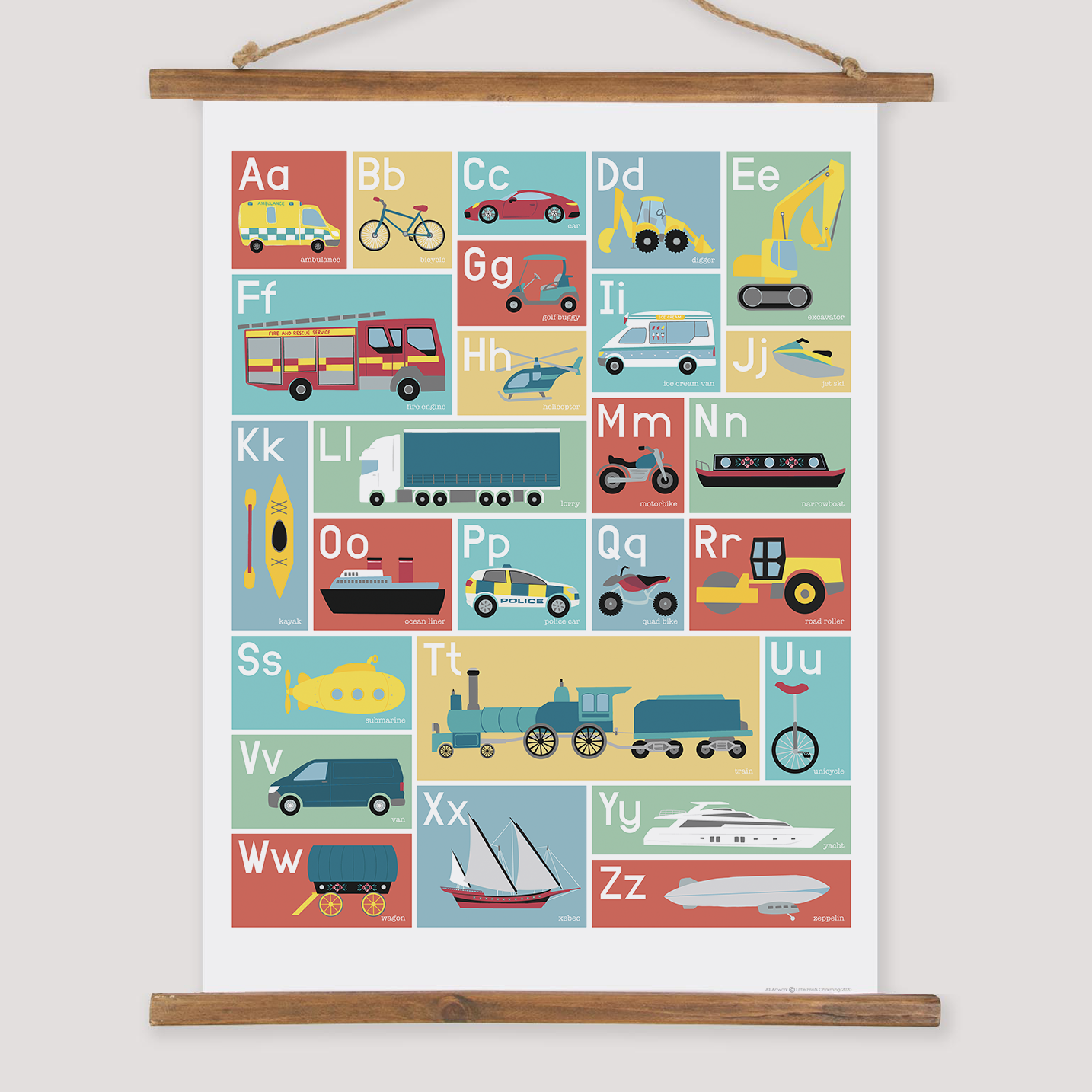 Image of Transport Alphabet Print