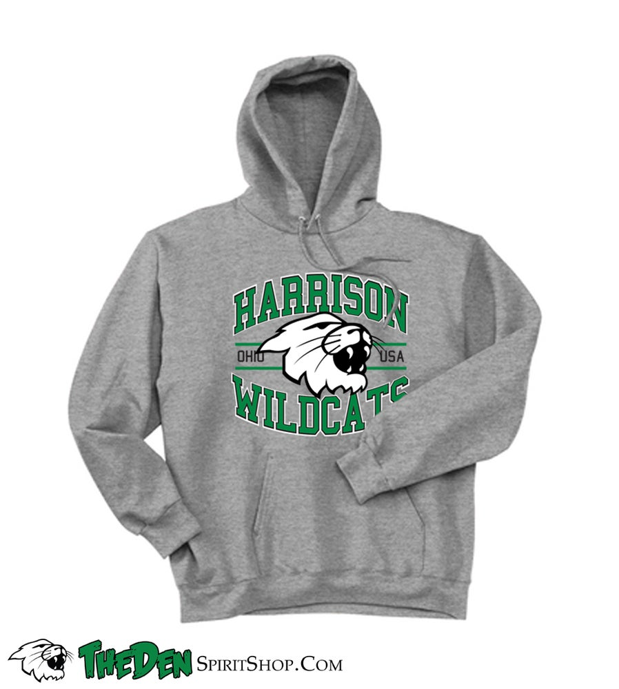 Image of Harrison Wildcats Hoodie,  Light Steel Grey H