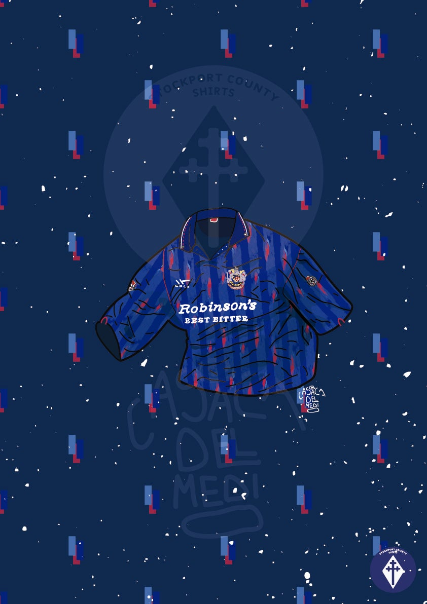 Image of Limited Edition 1992/93 Home Shirt Print