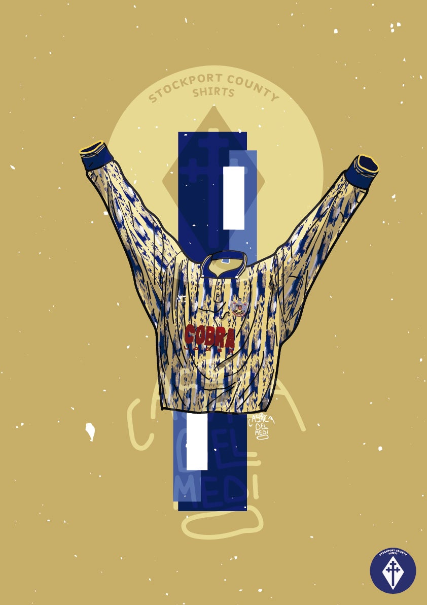 Image of Limited Edition 1991/92 Away Shirt Print