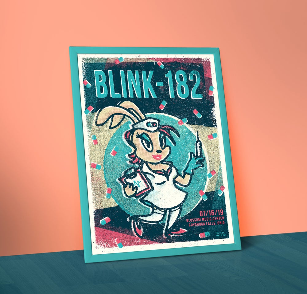 Image of Blink 182 - A2 Screenprinted Gig Poster