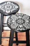 Janpath Furniture Stencil for Wall, Fabric and Furniture DIY Projects - Moroccan, Indian style