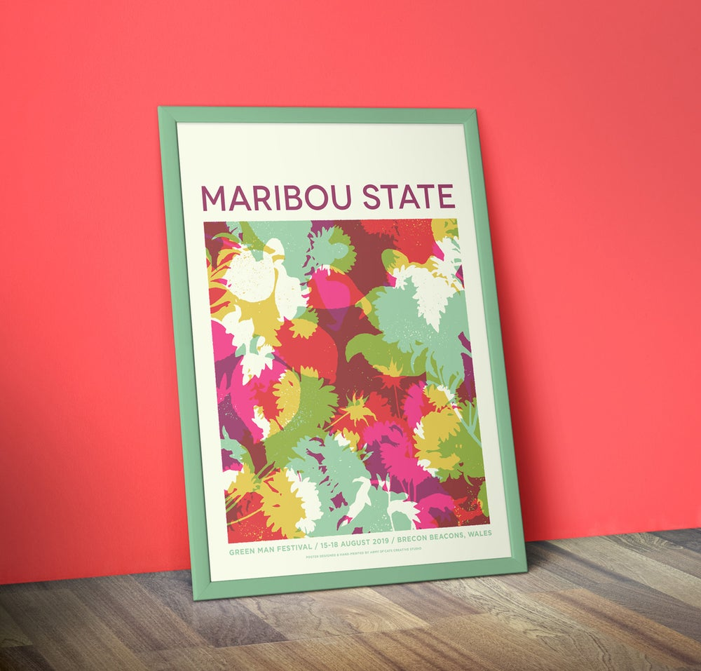 Image of Maribou State - A2 Screenprinted Gig Poster