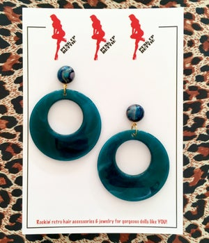 Image of Vintage Bombshell Hoop Earrings - Hot Pink/Fuchsia