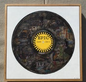 "Image of 36"" x 36"" Epic Record- Original Collage/Framed"