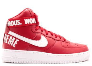 Image of SUPREME X AIR FORCE 1 HIGH SP 'RED'