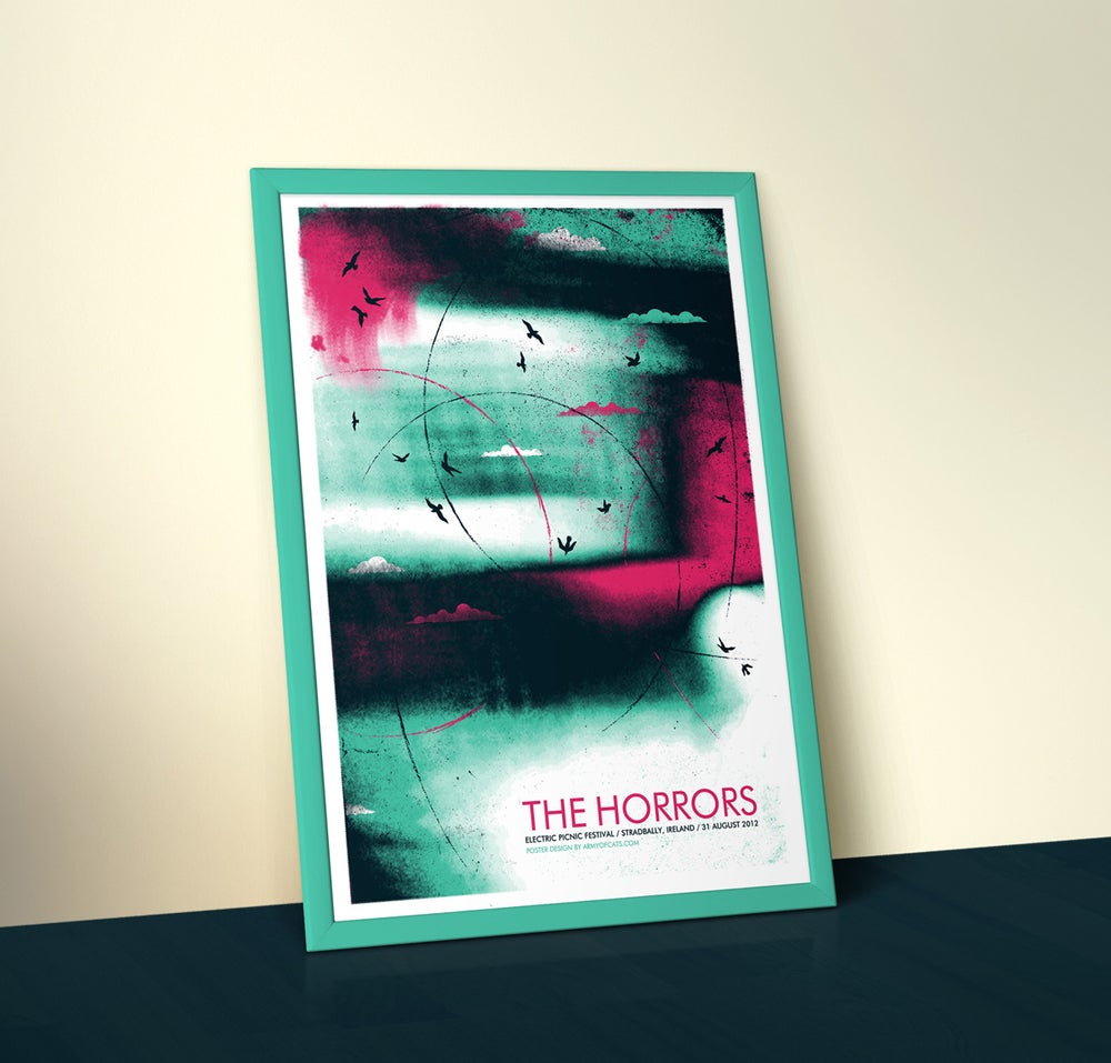 Image of The Horrors - A2 Screenprinted Gig Poster