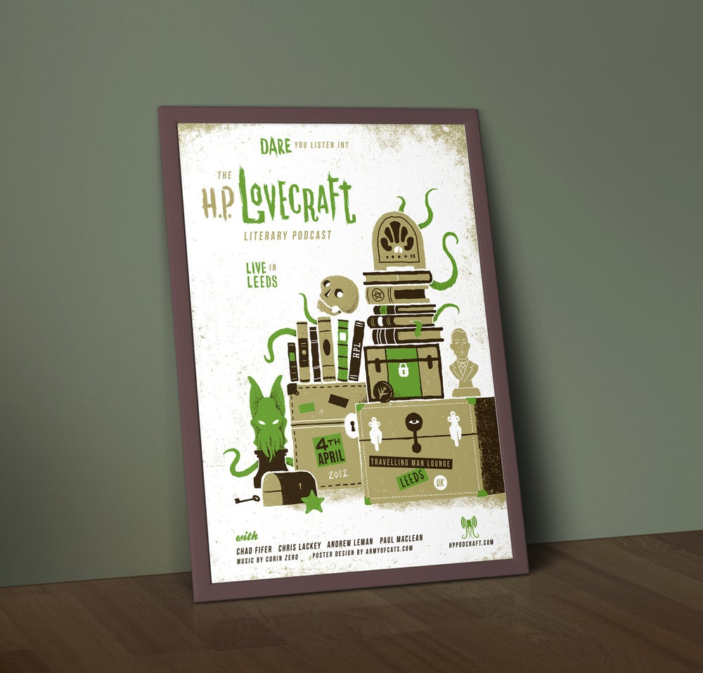 Image of HP Lovecraft Literary Podcast - Live in Leeds - Screenprint