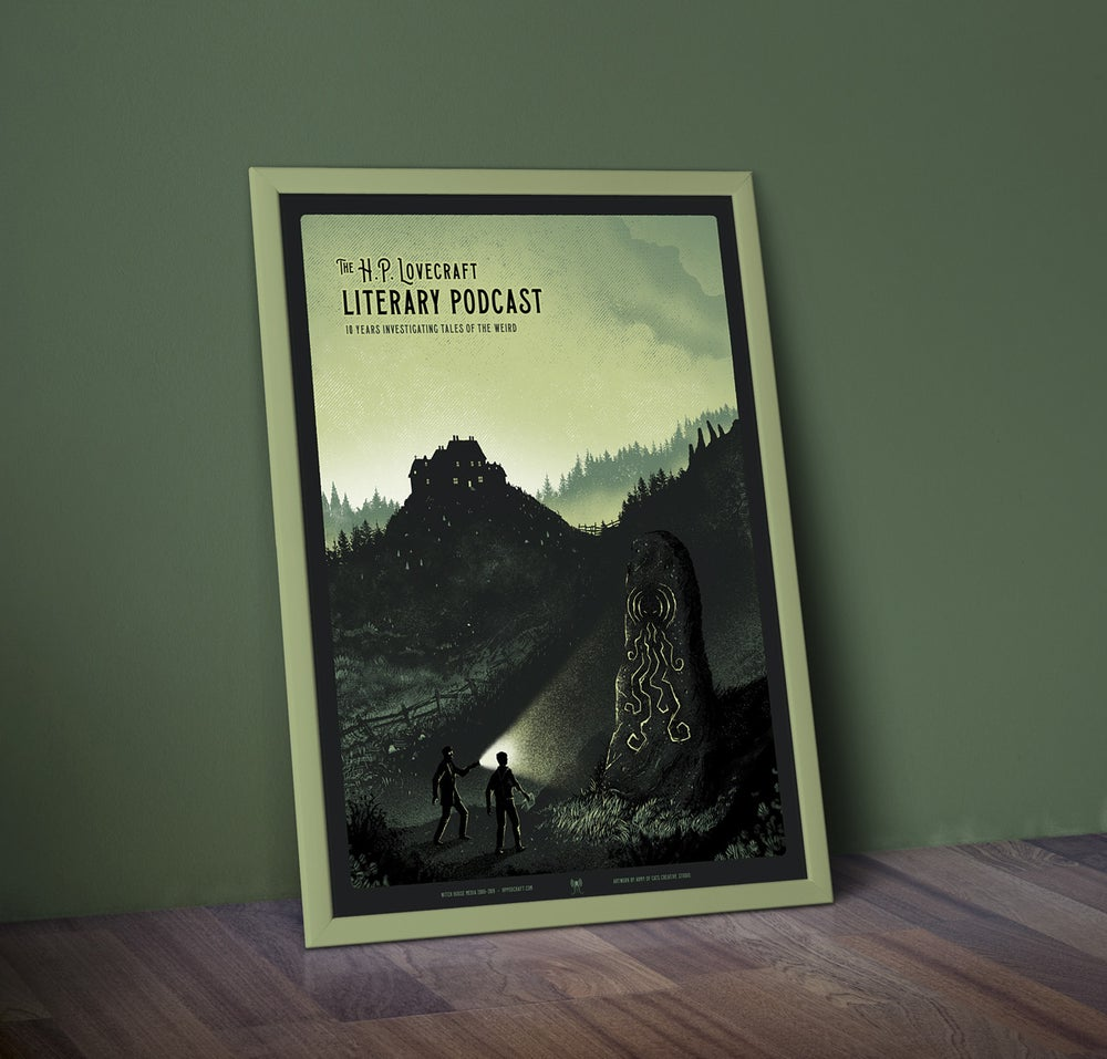 Image of HP Lovecraft Literary Podcast - 10th Anniversary Screenprint