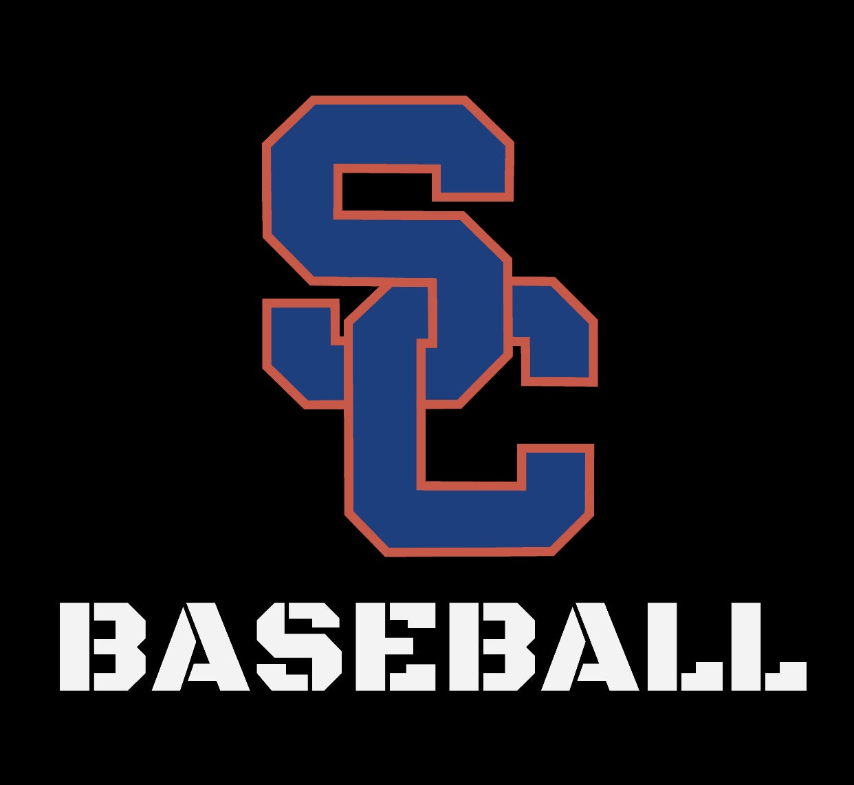 Image of Southaven Charger BASEBALL Decal - SC Logo W/ Baseball