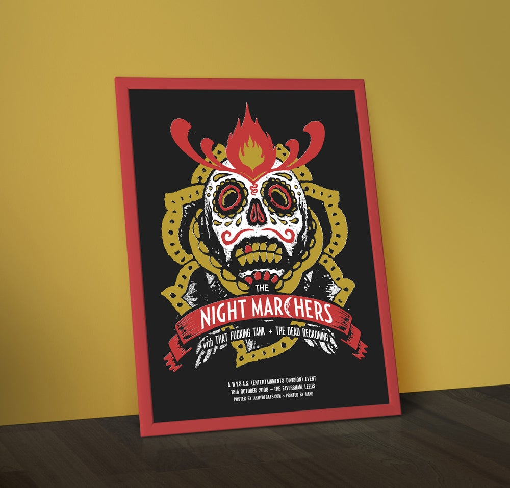 Image of The Night Marchers - Screenprinted Gig Poster
