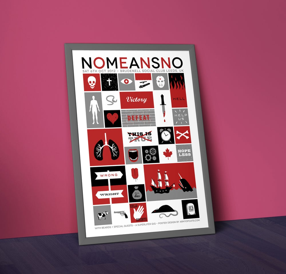 Image of NoMeansNo - A2 Screenprinted Gig Poster
