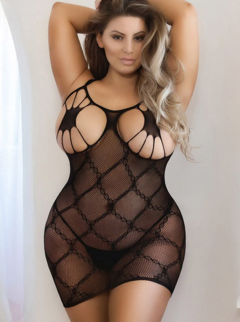 Image of #OwGirl Plus Open Cup Dress