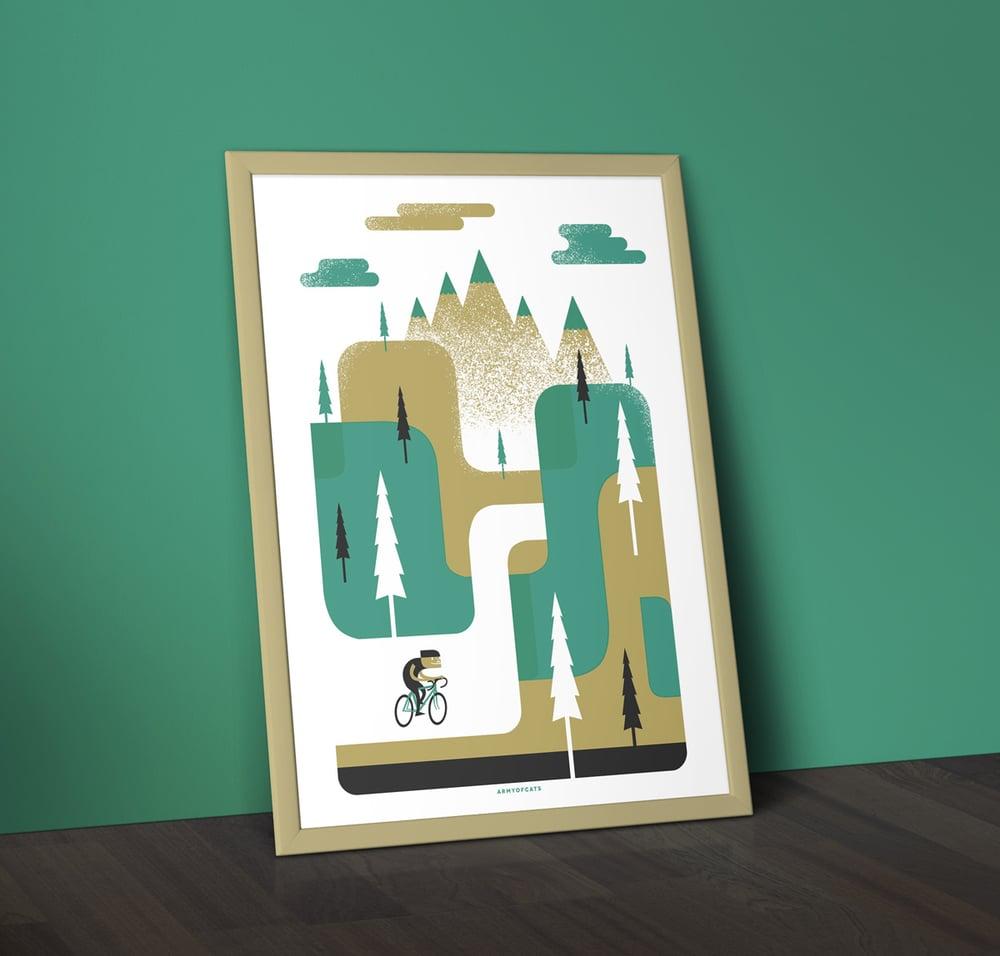 Image of Ride to the Hills - A2 Silkscreen Art Print