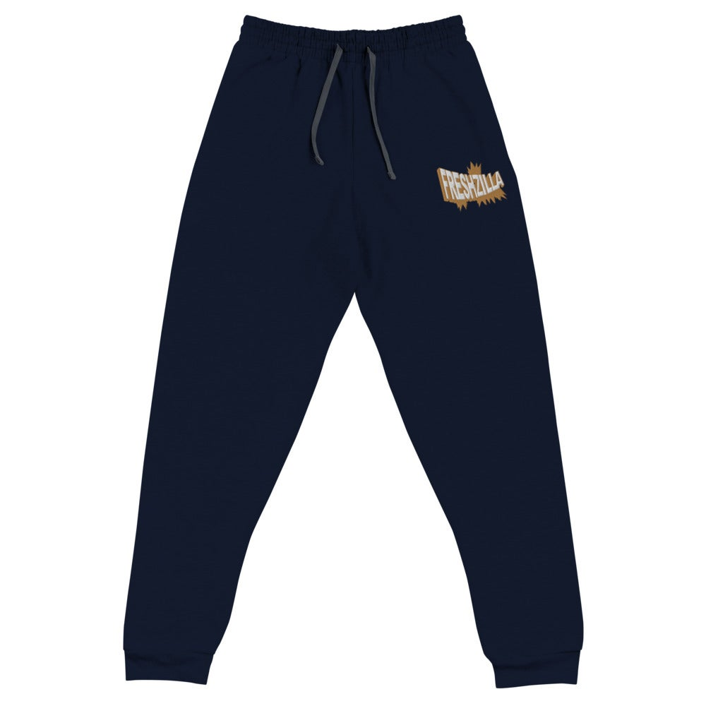FRESHZILLA Embroidered Gold Logo Joggers