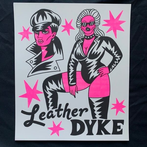 """Image of """"Leather Dyke"""" Risograph Print"""