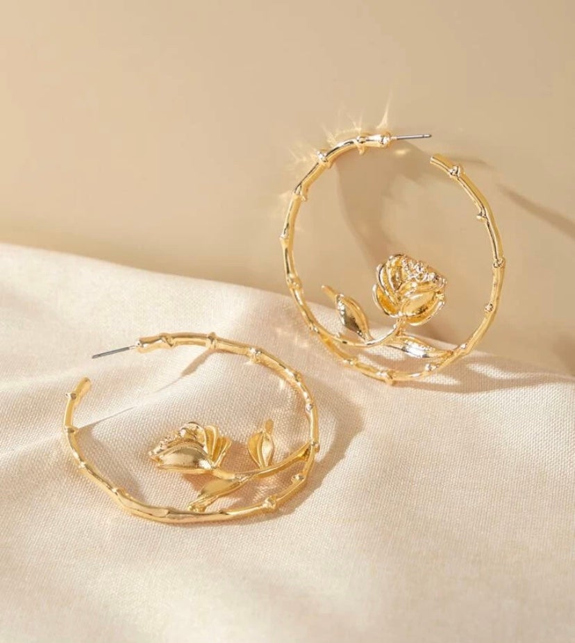 Image of Como La Flor Hoops