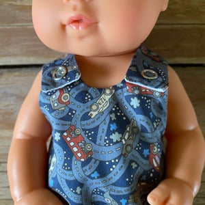 Image of Liberty Romper to suit 32cm Miniland doll - 'Hackney Road'