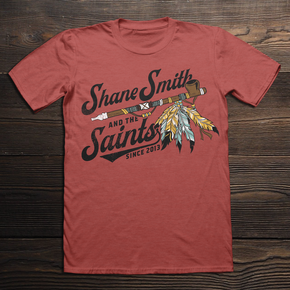 Image of Red Saints Peace Pipe Shirt