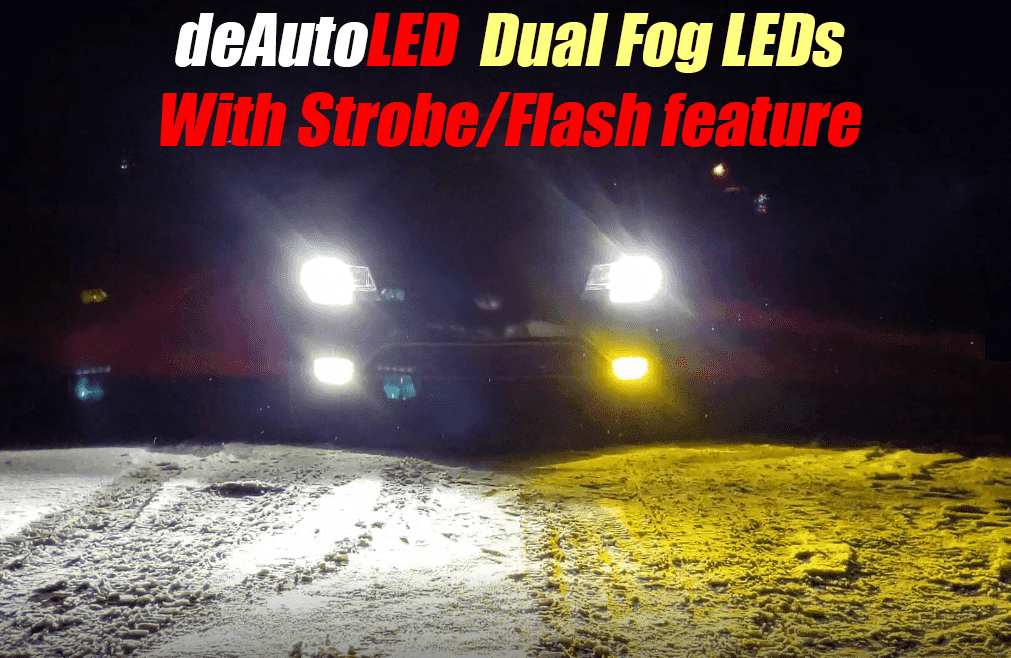 Image of Dual Color LED Fog [1 bulb 2 colors] Choose between a Clean White & Hyper 3000k Yellow at anytime