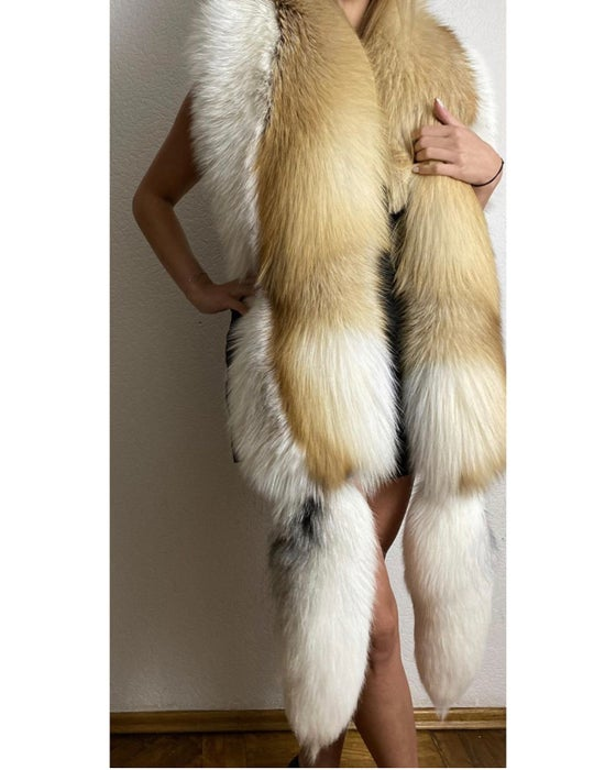 Image of Jumbo Golden X Arctic Fur Boa