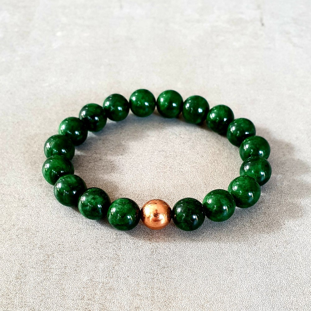 Image of EMERALD & COPPER BRACELET - 6mm, 8mm & 10mm bead sizes