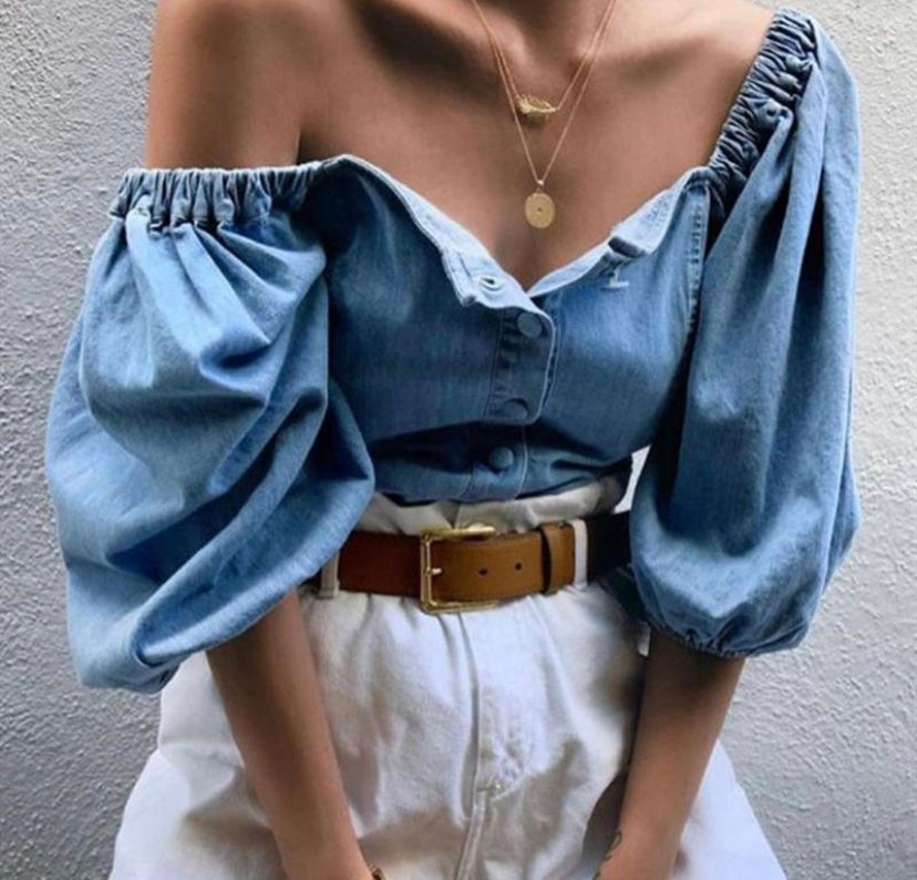 Image of Jean blouse