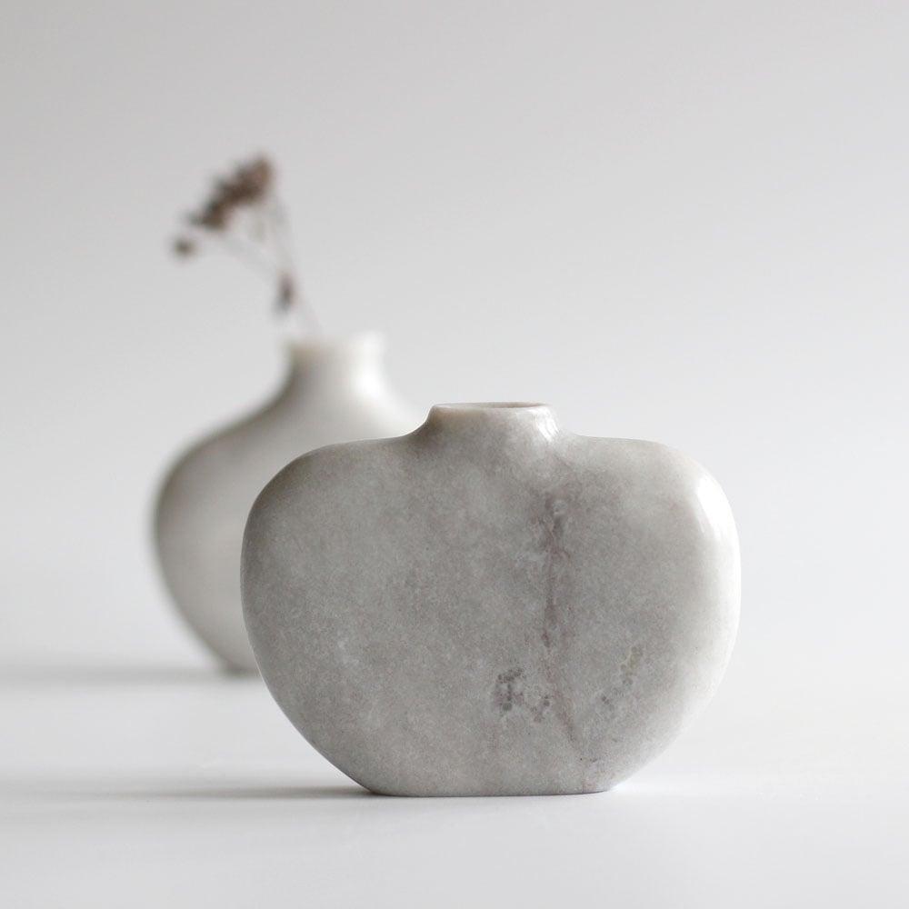 Image of Pebble Vase - Ledmore Marble Grey