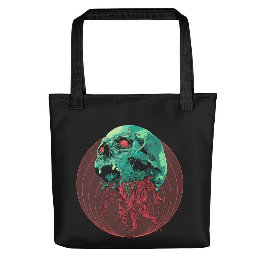 Image of Skull Full Of Blood Tote bag