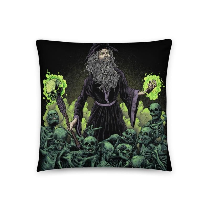 Image of NecroWizard Throw Pillow