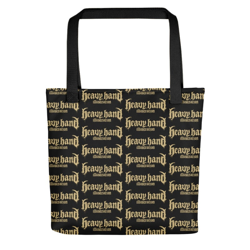 Image of All-Over Print Heavy Hand Logo Tote Bag