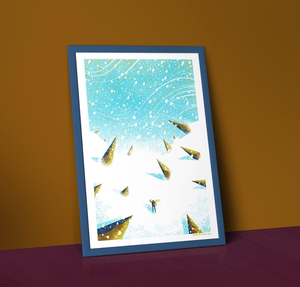 Image of White Wastes - A2 Landscape Art Print