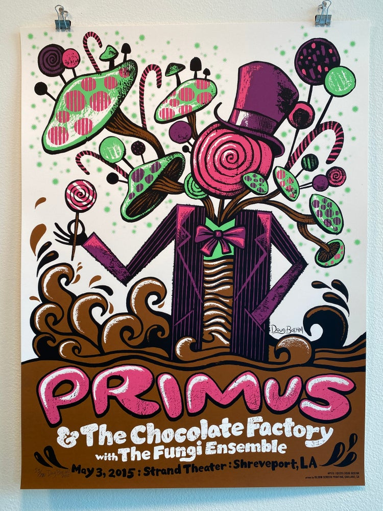 Image of Primus, 2015, Shreveport, official gig poster