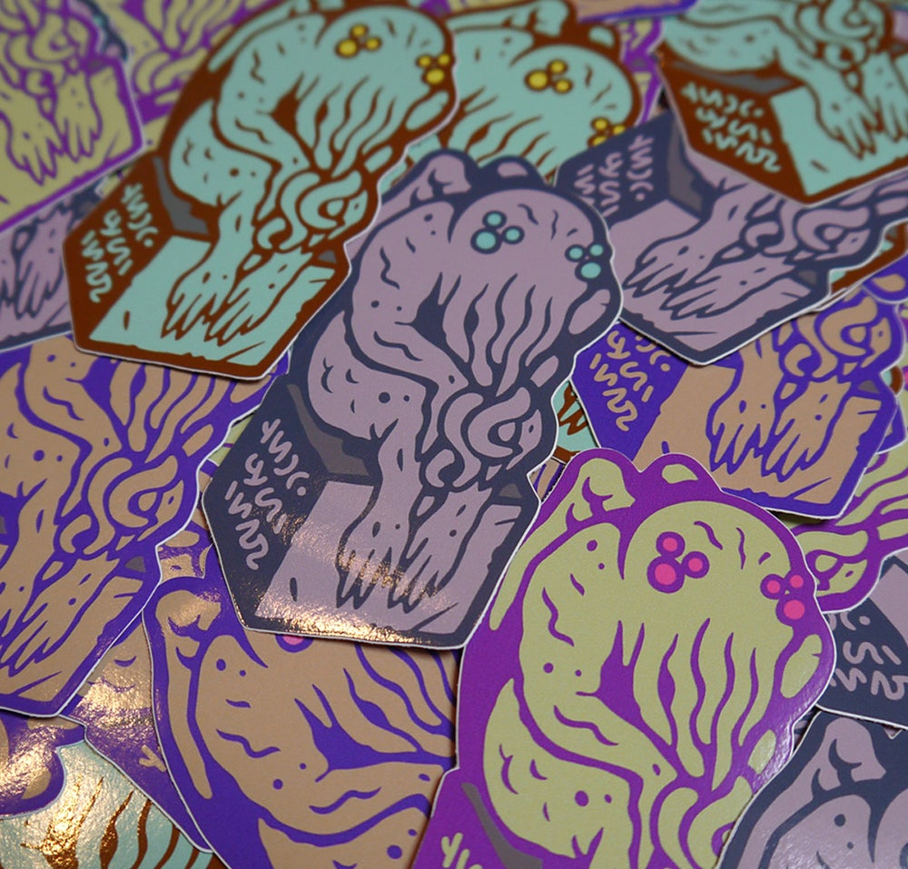 Image of Cthulhu Stickers - Set of 4