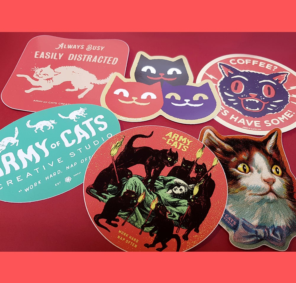 Image of Army of Cats Creative Studio Sticker Pack