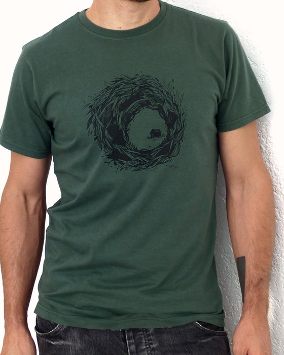 "Image of ""Refuge"" - Tee-shirt green"