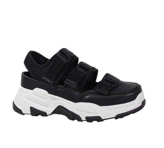 Image of Black/White Velcro Sneaker