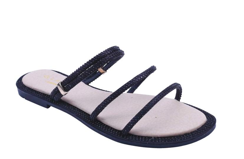 Image of Black Rhinestone sandal