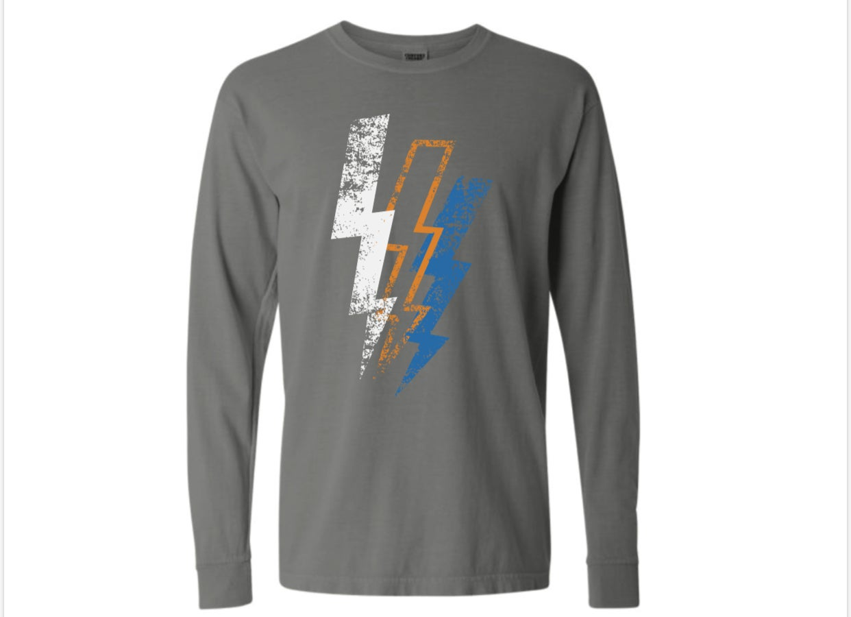 Image of Southaven Chargers Lightning Bolt Shirt