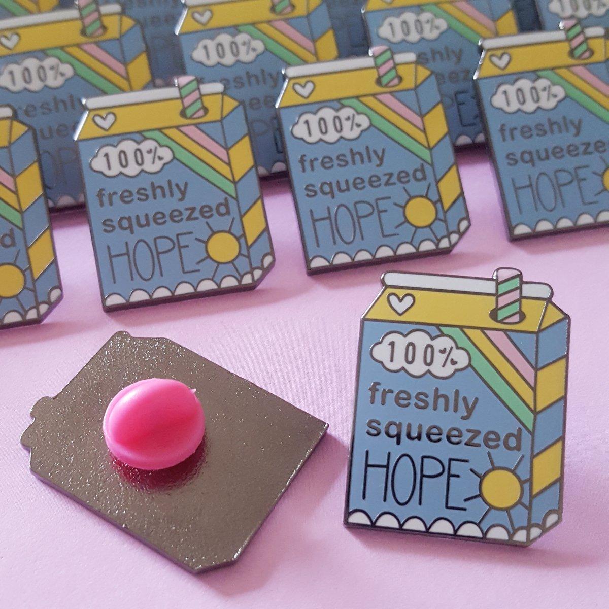 100% Fresh Squeezed Hope Enamel Pin