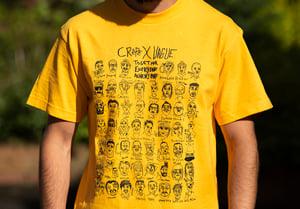 Image of CRéPE x Vague T-Shirt - Yellow & Tea Towel