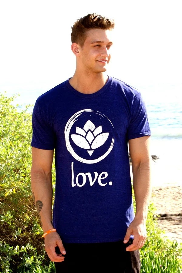 Image of 'Love.' T-Shirt (Indigo)
