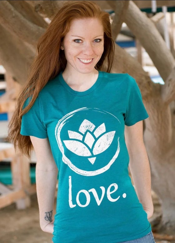 Image of 'Love.' T-Shirt (Evergreen)