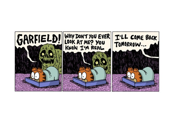 Image of Garfield Nightmare - A3 print