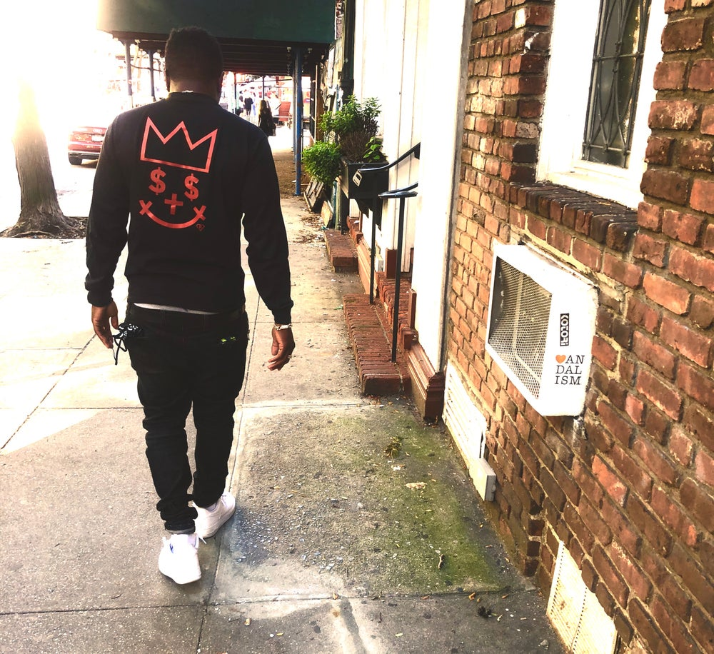 Image of GIGPS LONG SLEEVE BLACK & RED ALMIGHTY TEE