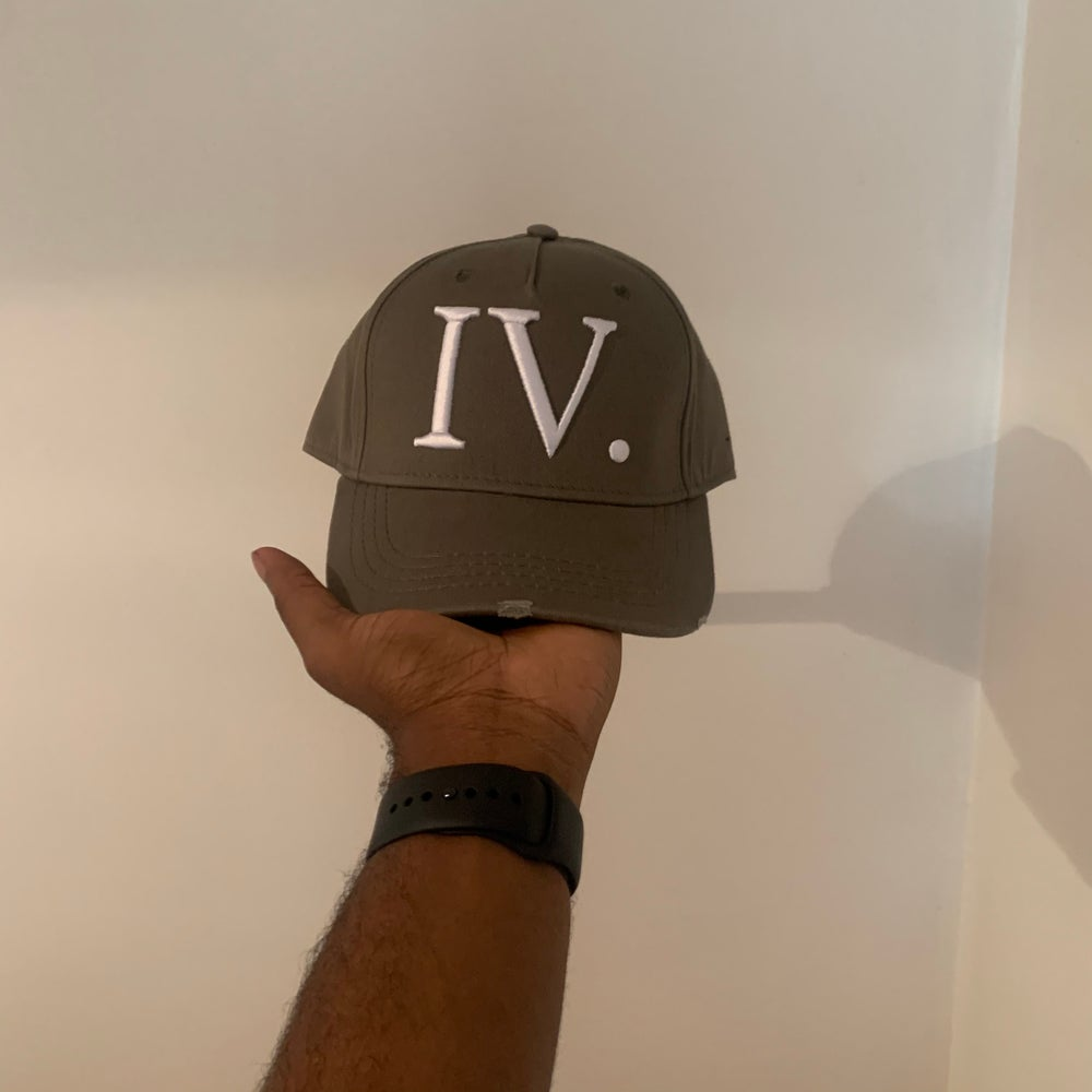 Image of Olive and White, IV Seasons, I God Trucker Cap